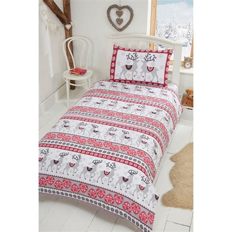 h and m bedding nordic stag brushed cotton duvet set single bedding b m