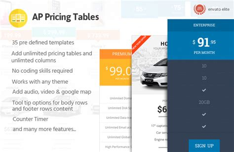 pricing table responsive pricing table builder for ap