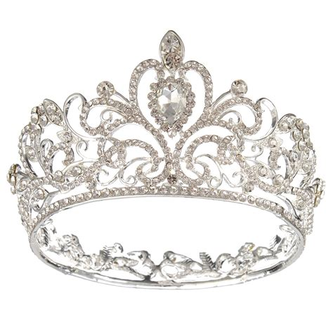 Silver Crown by Gold Silver Rhinestone Crown Tiara
