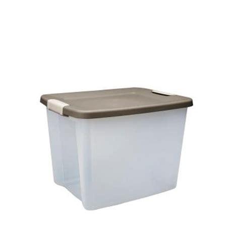 Sterilite Shelf Tote sterilite 50 qt shelf tote 6 pack 19378606 the home depot