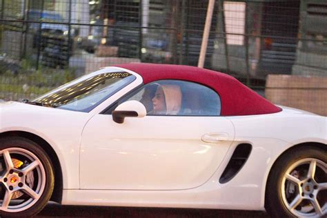 porsche white convertible lady gaga archives hawtcelebs hawtcelebs