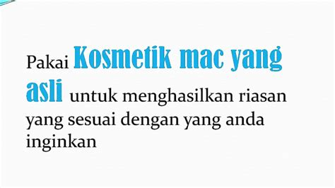 Mac Kosmetik Asli makeup mac m a c kosmetik make up jual kosmetik makeup