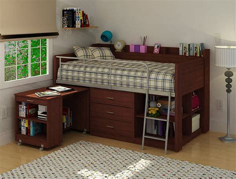 White Ladder Bookcase With Drawers Kids Bunk Beds With Desks Valuable 17 Kids Loft Beds With