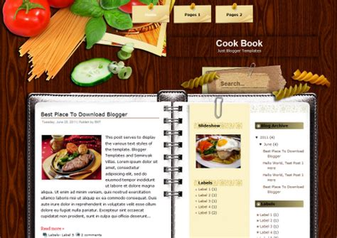 5 yummy photoshop cookbook templates free downloads for your diy