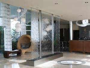 Gray Chandelier Shades Indoor Water Fountain Entry Modern With Custom Design