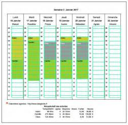 Calendrier Planning Gratuit Calendrier Planning Hebdomadaire Horizontal