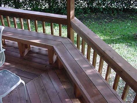 deck railing bench 25 best images about deck railing ideas on pinterest