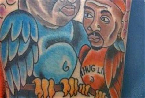 tupac tattoo fail tattoo biggie tupac fail paperblog
