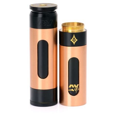 Av Able Blavk Carbon av able stacked style copper black 2 mechanical mod w