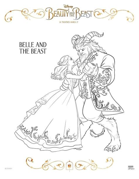 beauty and the beast coloring pages games free printable beauty and the beast coloring pages