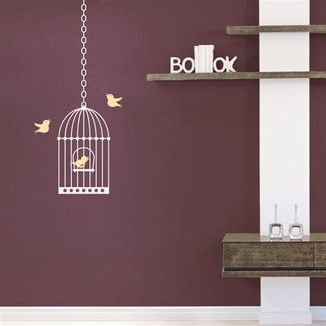 birdcage wall sticker birdcage wall decal
