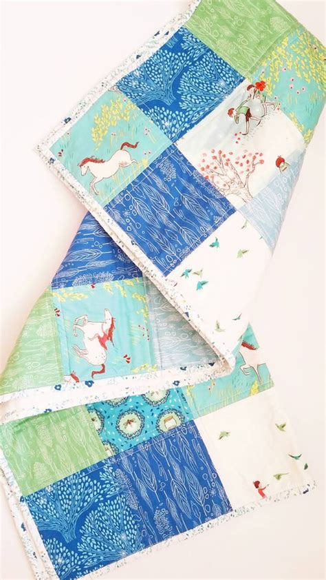 Handmade Quilts For Sale Etsy - items similar to patchwork baby quilt baby quilt blanket