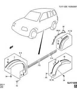 2003 Chevrolet Tracker Parts Chevrolet Moldings Wheel Opening Flares