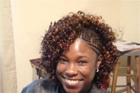 cornrows on side sew in in back braids with sew in in the back curly sew in with braids