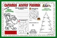 Christmas Printable Placemats For Kids Christmas » Home Design 2017