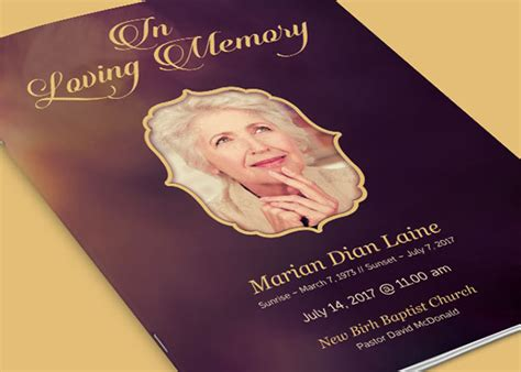 In Loving Memory Funeral Program Template On Behance In Loving Memory Template Free
