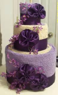precious memories scrapbooking towel cake wedding shower gift