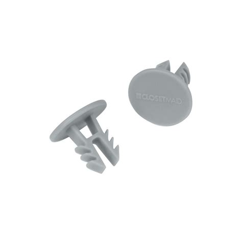 Closet Pole End Caps by Closetmaid Superslide 1 1 4 In White Closet Rod End Caps