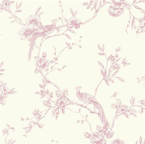shabby chic pink wallpaper arthouse chinoise toile de jouy shabby chic bird