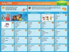 week one menu childcare.jpg | recipes | pinterest | good