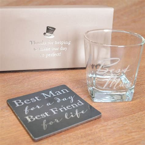 best man gifts best man whiskey glass and coaster set find me a gift