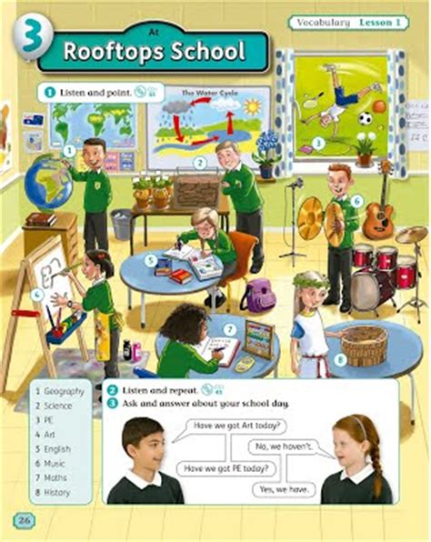 rooftops 6 class book 4th grade primary cuarto de primaria teacherlola 180 s lessons