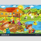 Cartoon Farm Scene | 1500 x 1141 jpeg 929kB