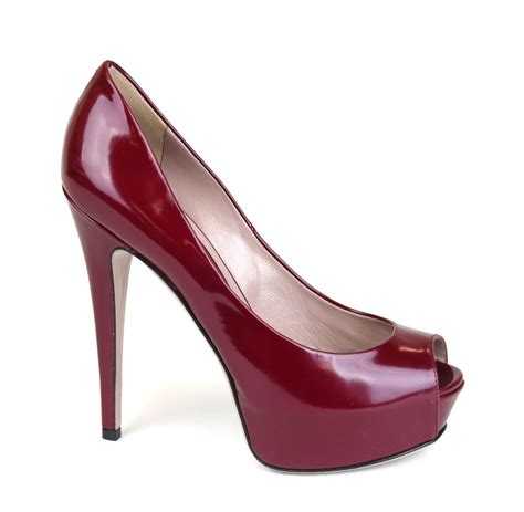 Gucci Heels 1 gucci heels purple wine