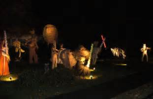 star wars halloween decorations star wars made entirely out of scarecrows wins best