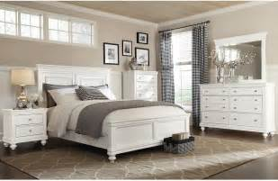 bridgeport  piece queen bedroom set white queen