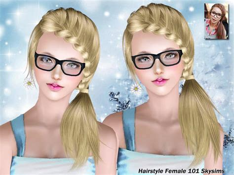 small ponytail hairstyle 228 by skysims sims 3 hairs the sims 3 side braid ponytail hairstyle 101 by skysims