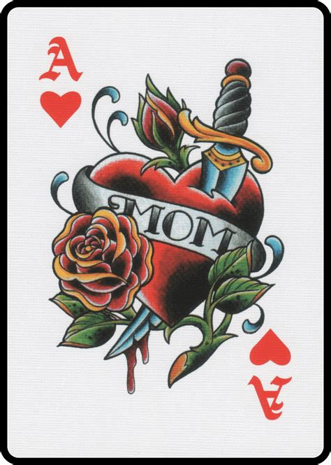 ace of hearts tattoo my collection i collect cards