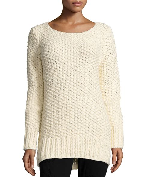 Loong Sweater lyst michael kors sleeve textured sweater in