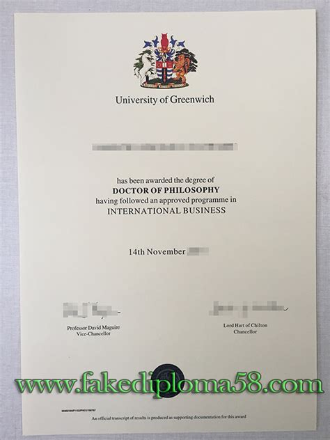 Ba Mba Phd by Phd Degree From Of Greenwich Fakediploma58