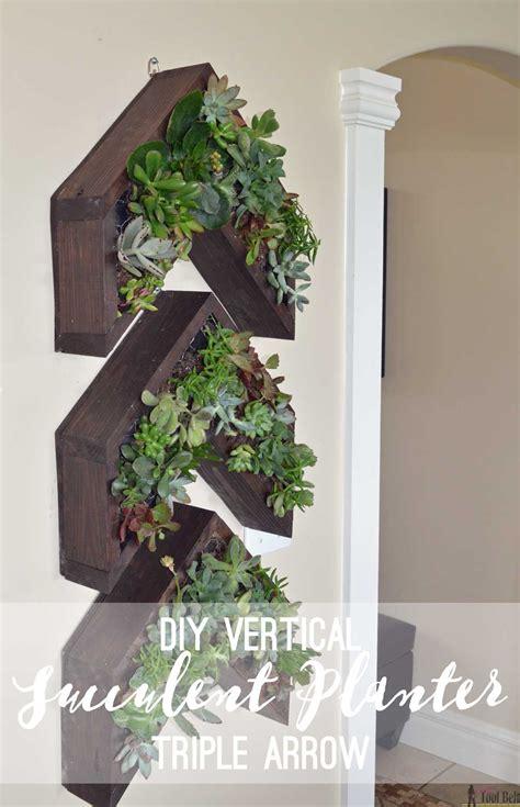 arrow vertical succulent planter her tool belt