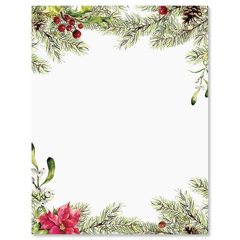 pine berries christmas letter papers current catalog