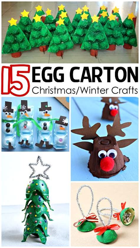 christmas winter egg carton crafts for kids winter craft