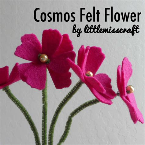 Handmade Felt Flowers Tutorial - crafts cosmos felt flower