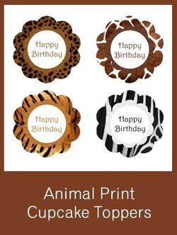 free printable zebra print cupcake toppers animal print cupcake toppers free pdf download safari
