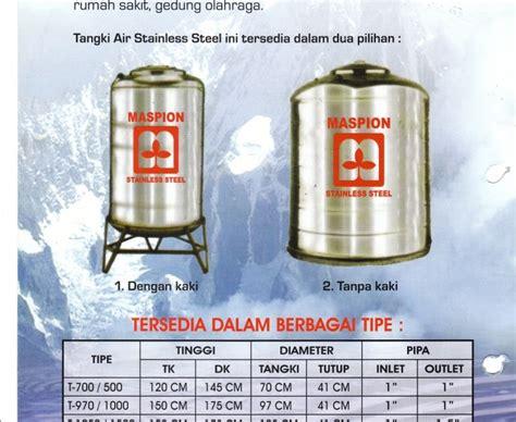 Tangki Air Stainless Steel Tirta T 1000 Water Tank Tandon Toren Air toren tandon tangki tedmond air yang berupa stainles or plastik toren air stainless steel