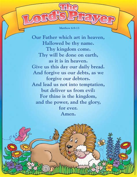 printable version of lord s prayer 107 best the lord s prayer for children images on