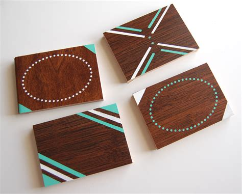coasters diy diy wood coaster set wild amor