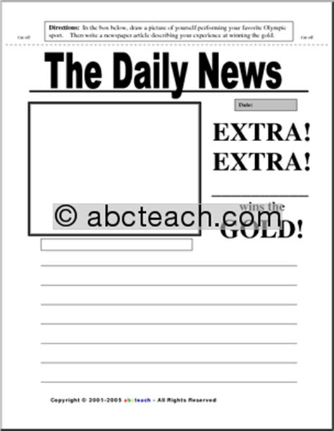 8 Best Images of News Article Worksheet - Newspaper