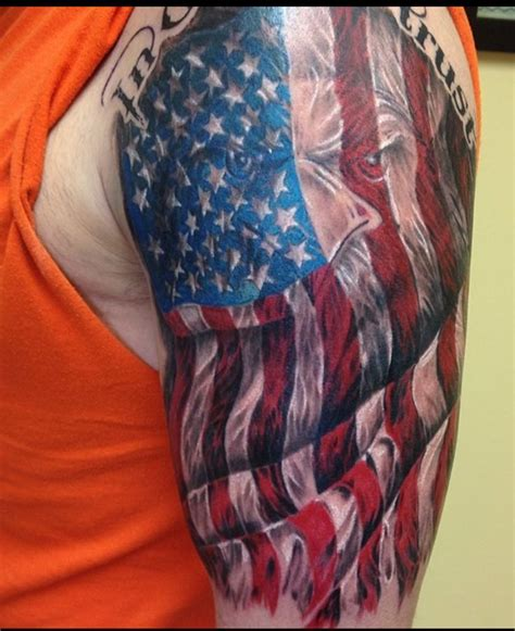 american flag eagle tattoo designs best 25 american flag tattoos ideas on