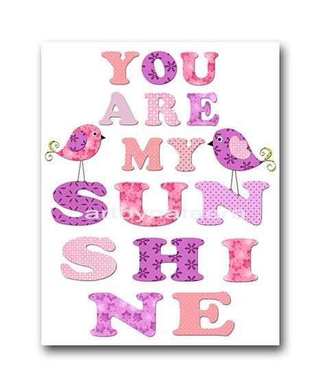 You Are My Sunshine Birds Nursery Baby Girl Nursery Decor Baby You Are My Nursery Decor