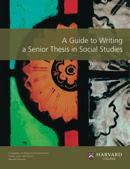 guide to writing a dissertation senior thesis help