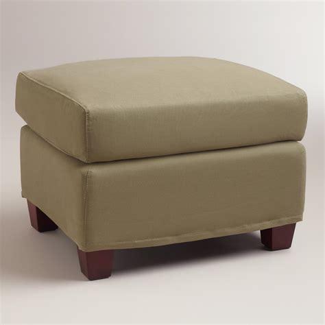 slip cover for ottoman sage luxe ottoman slipcover world market