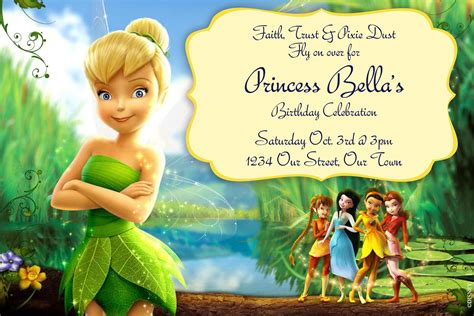 tinkerbell invitations digilal file by simplymadebymsb on etsy