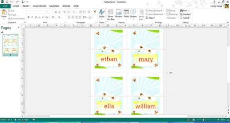 name place cards template publisher free summer themed templates from microsoft