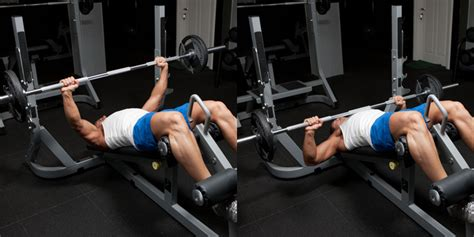 decline bench press with dumbbells decline barbell bench press weight training exercises 4 you